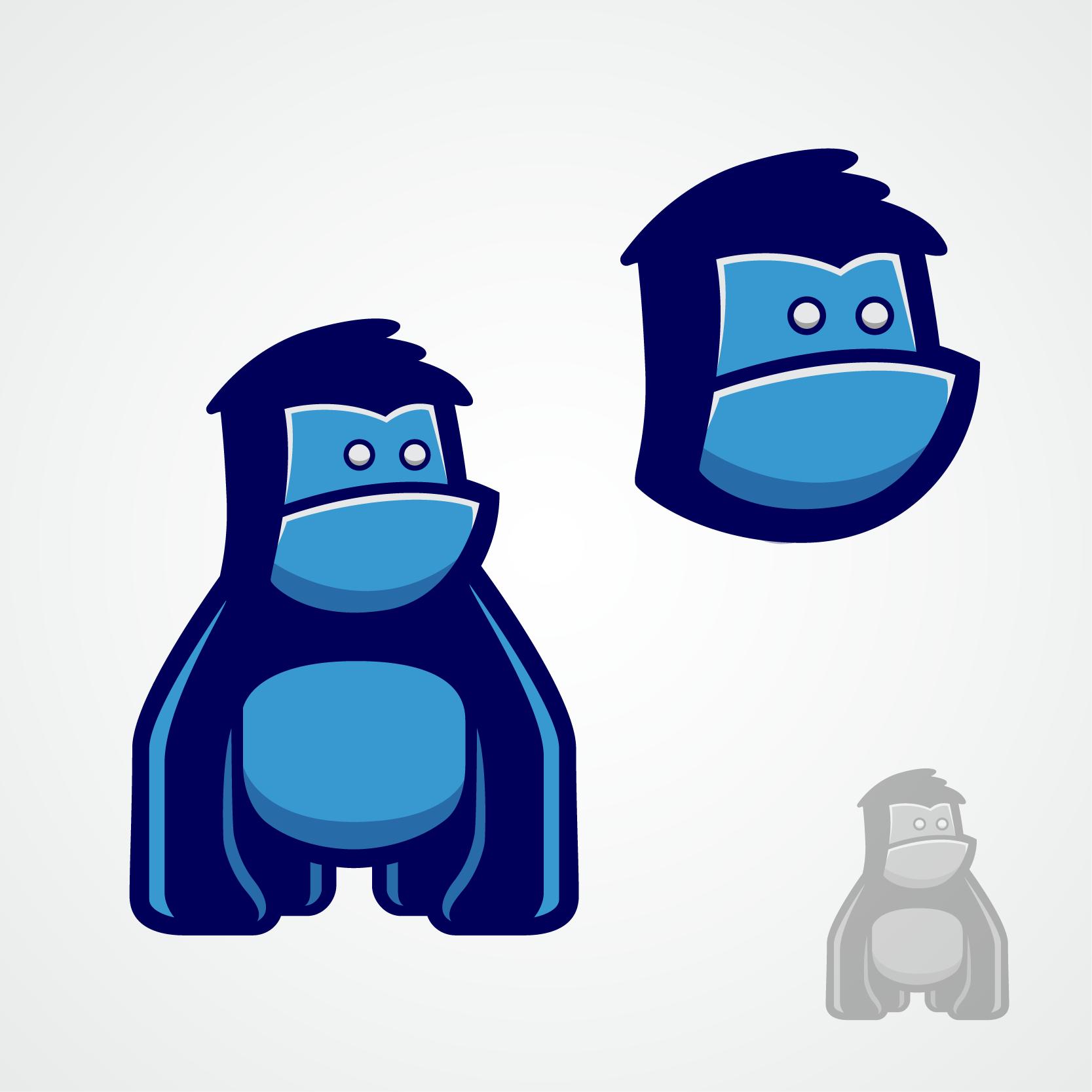 Gorilla face logo contest, just for Flat Design expert.