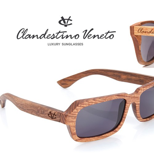 LUXURY WOODEN SUNGLASSES LOGO