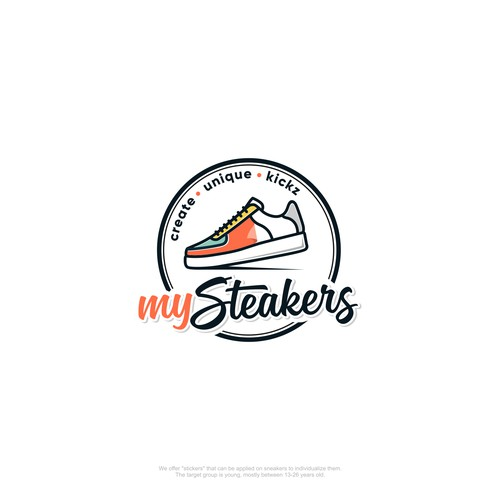 Create a hip and young logo for a unique SNEAKER DIY product