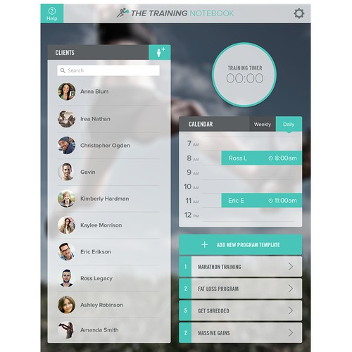 Redesign and App for personal trainers