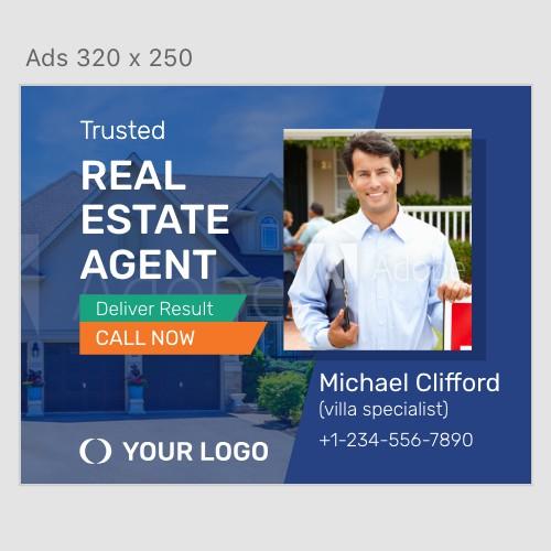 Real Estate Agent Ads Banner Set