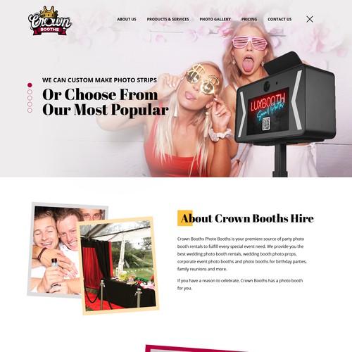 Crownbooth website