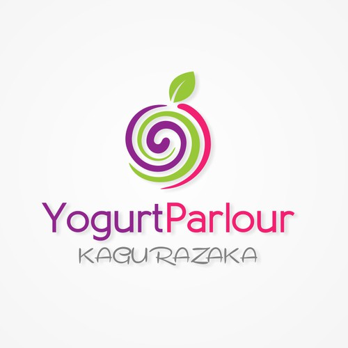 simple logo for kagurazaka yogurt parlour