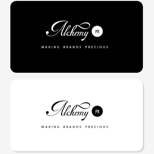 Alchemy PR needs a new logo and business card