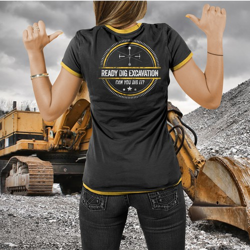 Excavation T-shirt print