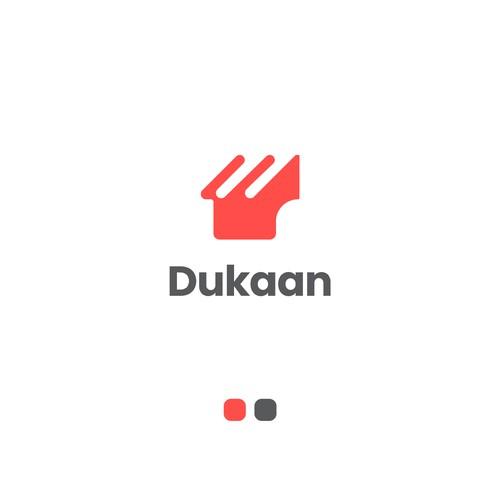 Logo design for Dukaan app.