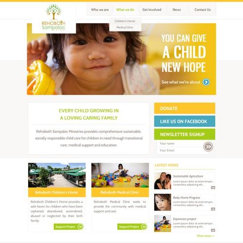 website design for Rehoboth Sampaloc Ministries