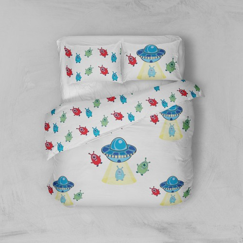 cute pattern for children's bed linen