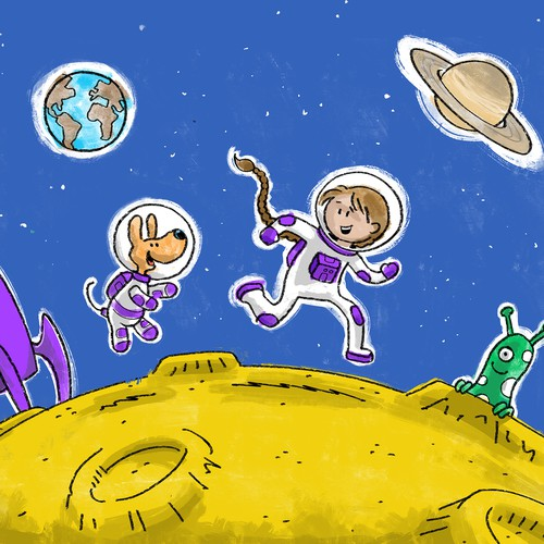 """""""Girl goes to the Moon"""" contest winner"""
