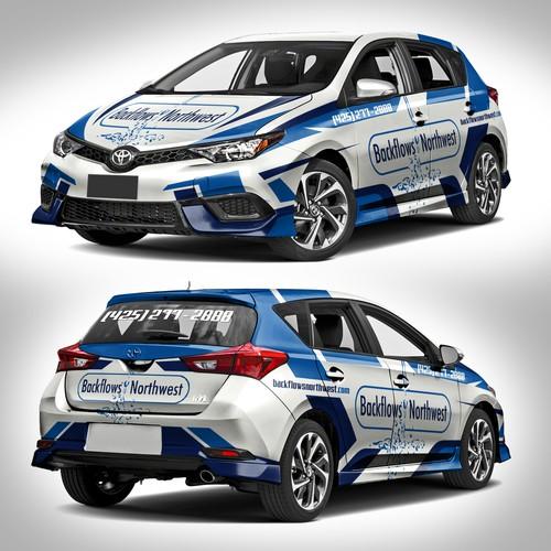 2017 Toyota Corolla hatchback sporty livery design