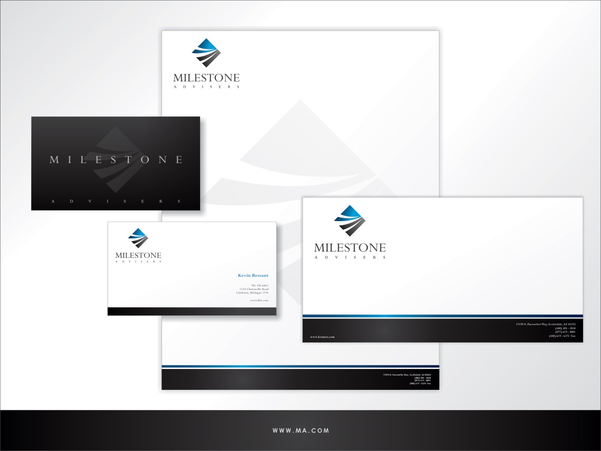 Logo design for financial group: Milestone Advisers