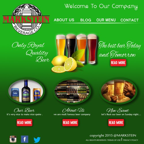 Create a Powerpoint template for a Beer Distributor!