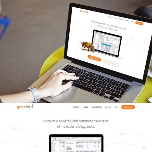 Geneious Website Homepage
