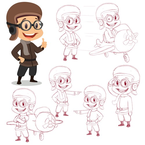 Character Concept and Sketch Drawings