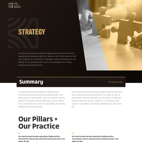 Strategy page for kleio