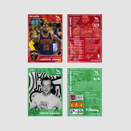 Collectible Trading Cards Design