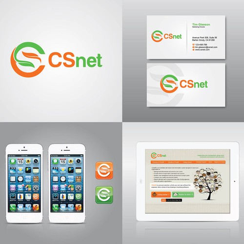 Logo concept for CS Net