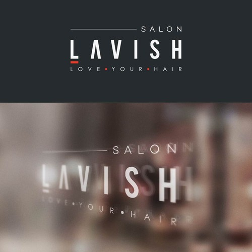Minimalist logo design for hair salon Lavish