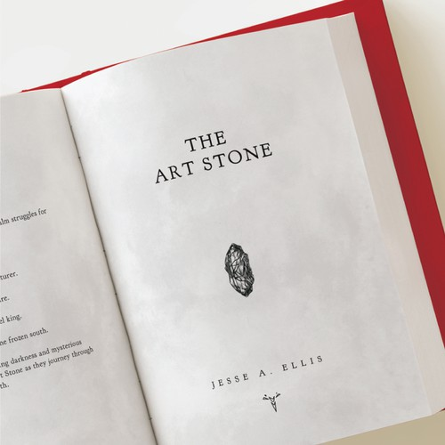 Typesetting & Interior book design for a fantasy novel, The Art Stone.