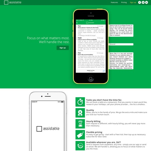 Assistable Apple Store App Landing Page