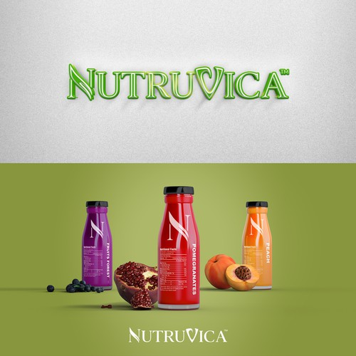 Logo design for Nutruvica, modern, luxurious and organic supplement brand.