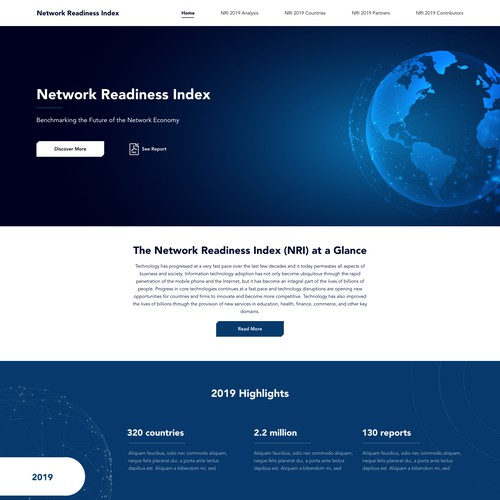 Homepage Design for the Network Readiness Index