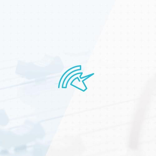 One stroke lineart logo