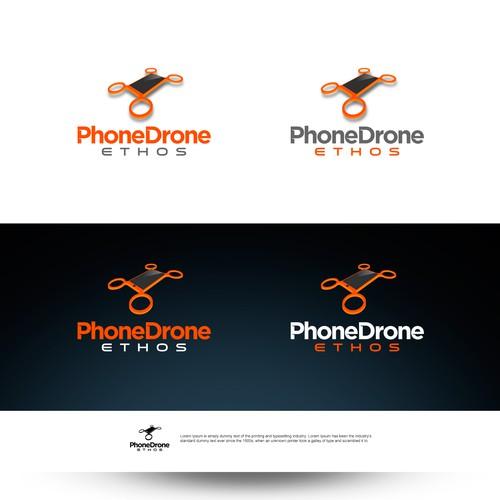 logo develop drones  smartphone