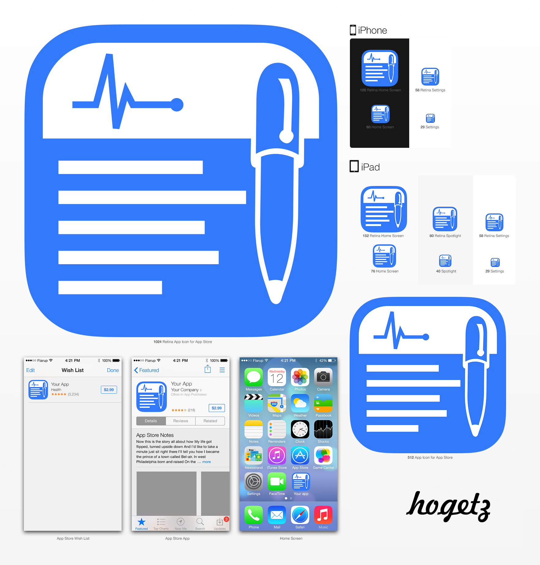 Medical Record Keeping App Icon