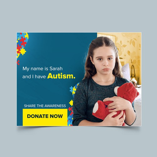 Facebook ad for Autism awareness.