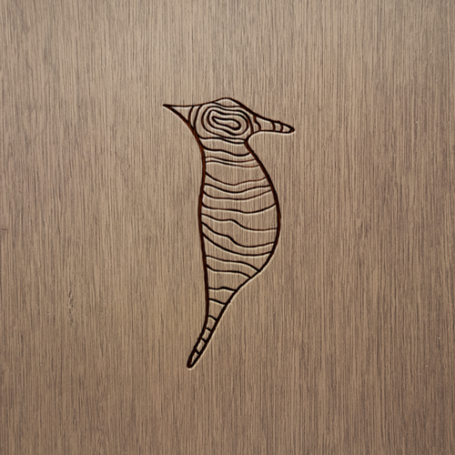 Clean and modern logo for Woodpecker - handmade