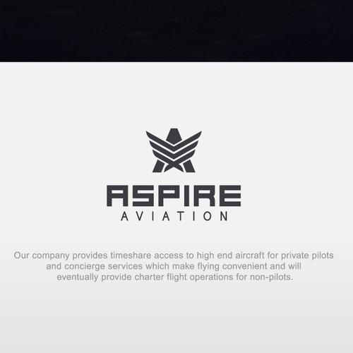 """Logo concept for """"Aspire Aviation"""""""