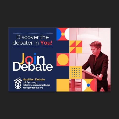 NextGen Debate Banner