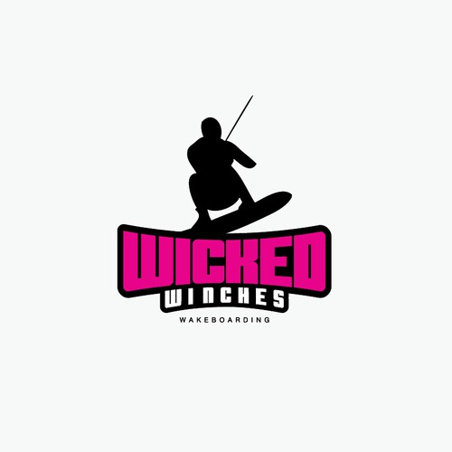 "Create a Funky,fun,out there,loud wakeboard winch illustration for ""Wicked Winches"""
