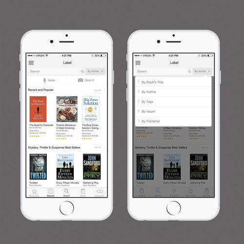 E commerce book app