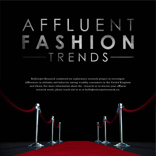 Infographic design for RED CARPET RESEARCH