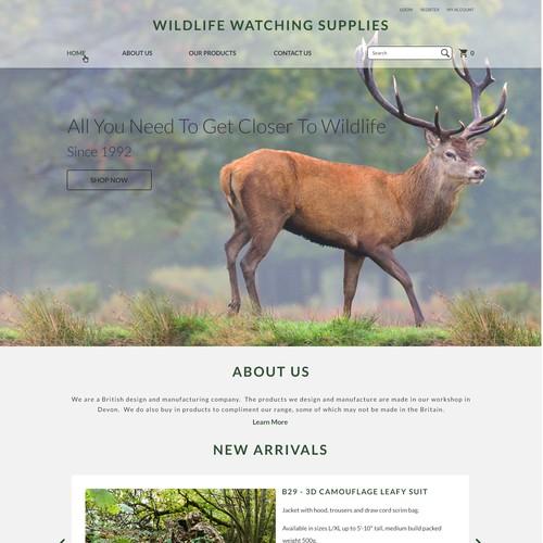 Design for a Wildlife Supplies Website