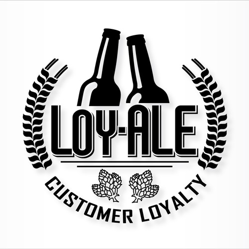Craft beer logo for a customer loyalty program