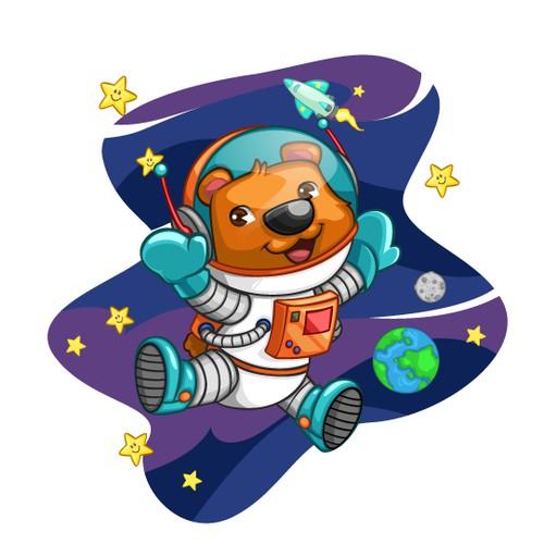 astronaut bear character