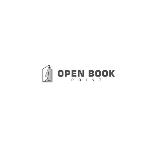 Monochrome Theme Logo for Printing Company