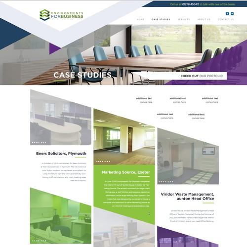 Wordpress Design for a Commercial Interior Designer company