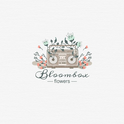 Logo for flower business