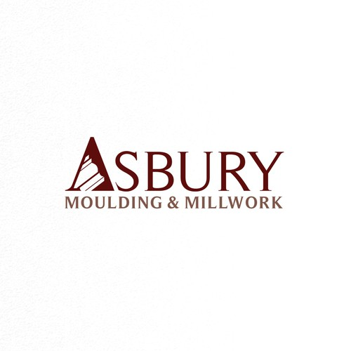 Wordmark logo design for Asbury Moulding