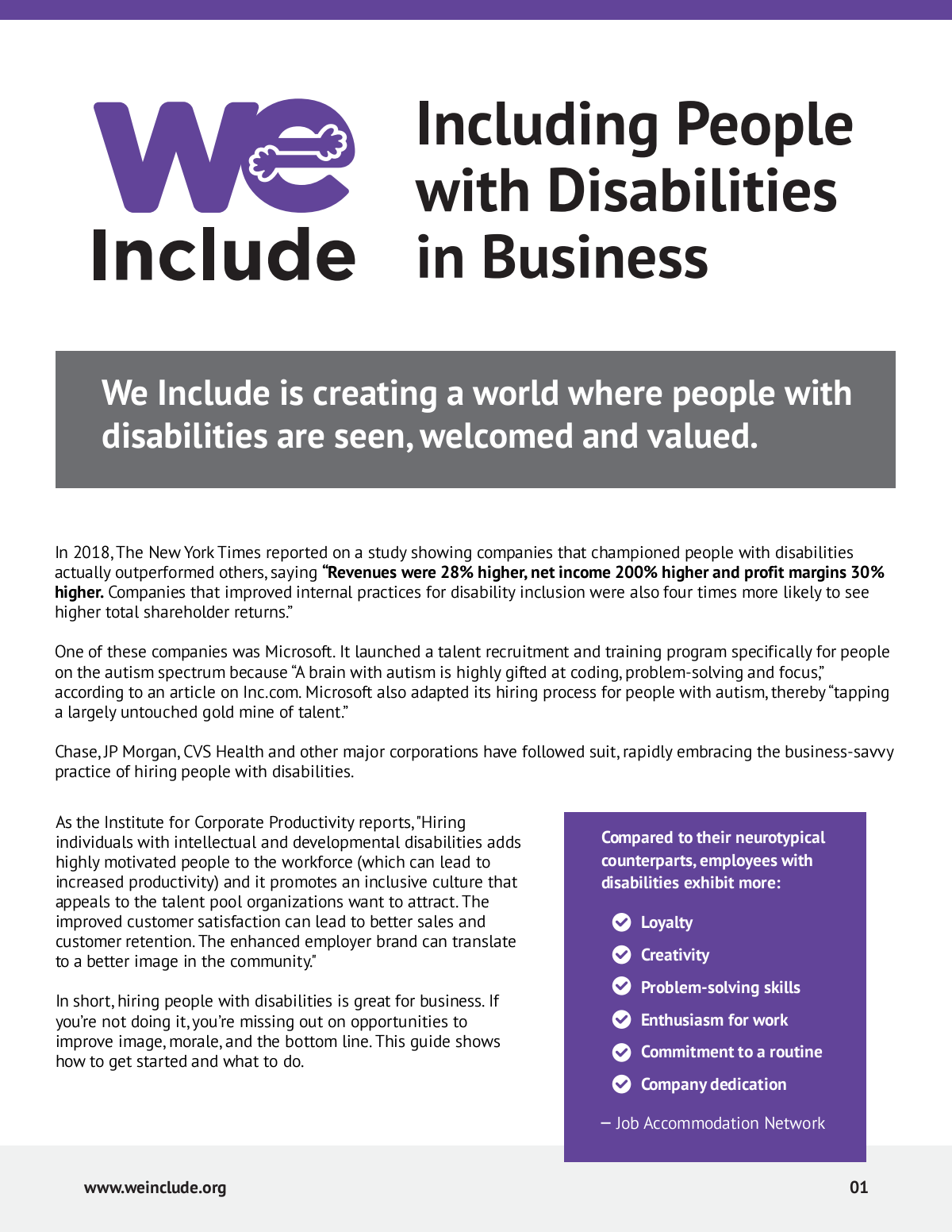 We Include's Business Inclusion Guide
