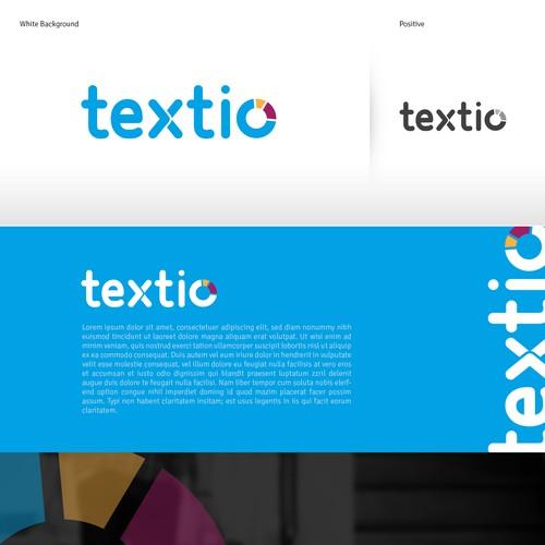 Design a MODERN logo for textio, a software startup