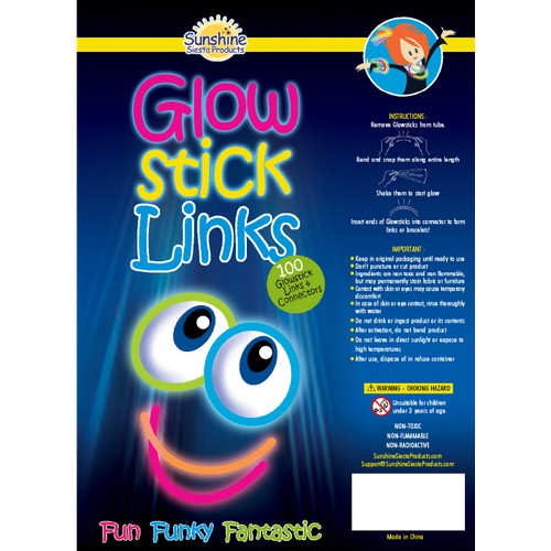 Design an EyeCatching Label for Glowstick Product