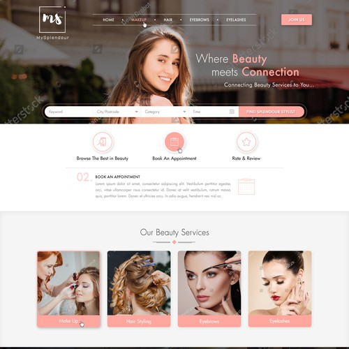 Premium design for Beauty Booking Platform