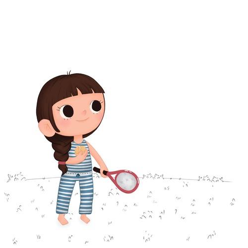 Little Tennis Girl