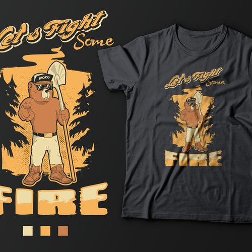 T-shirt design Smokey the Bear