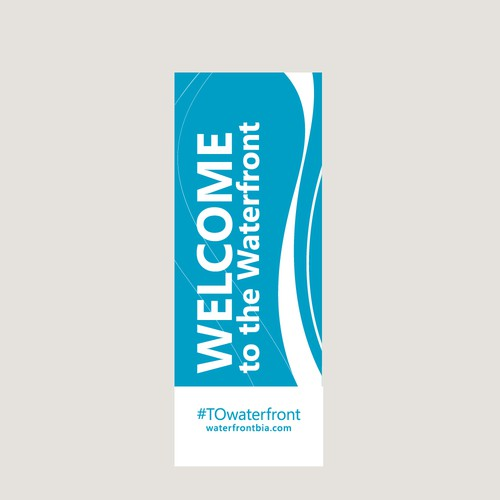 Vinyl pole banners for Toronto Waterfront